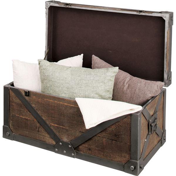 【送料無料】《Traver Furniture》ビンテージ風スタイル トランクL IW-983