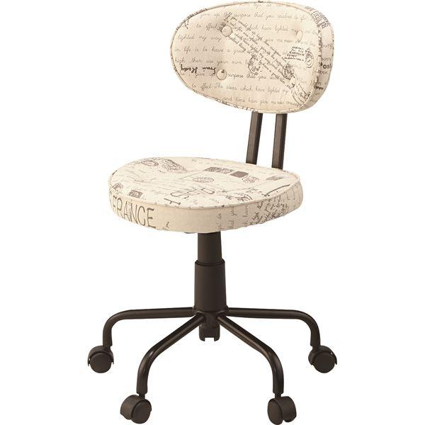 【送料無料】デスクチェア(椅子) 昇降機能付き スチール/ソフトレザー KGI-109BE ベージュ