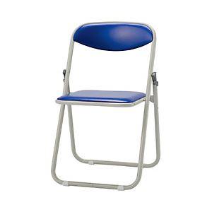 【送料無料】サンケイ 折りたたみ椅子 ブルー 型番:CF107-MX-BL-1