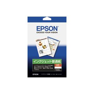 【送料無料】(業務用200セット)エプソン EPSON インクジェット普通紙 KA5100NP A5 100枚