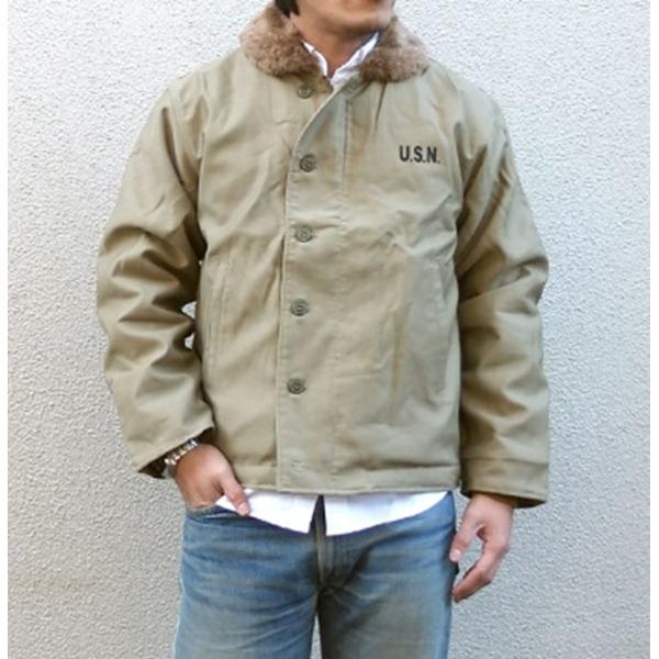 【送料無料】USタイプ 「N-1」 DECK ジャケット JJ105YN カーキ 40(XL)サイズ 【レプリカ】