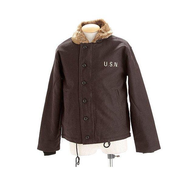 【送料無料】USタイプ 「N-1」 DECK ジャケット JJ105YN ブラック 32( XS)サイズ 【 レプリカ 】