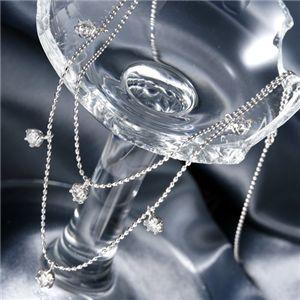 送料無料 K18WG ダイヤモンド2連ステーションネックレス 計0.6ct 結婚内祝 限定アイテム 運動会 父の日 イベント 売れ行きがよい