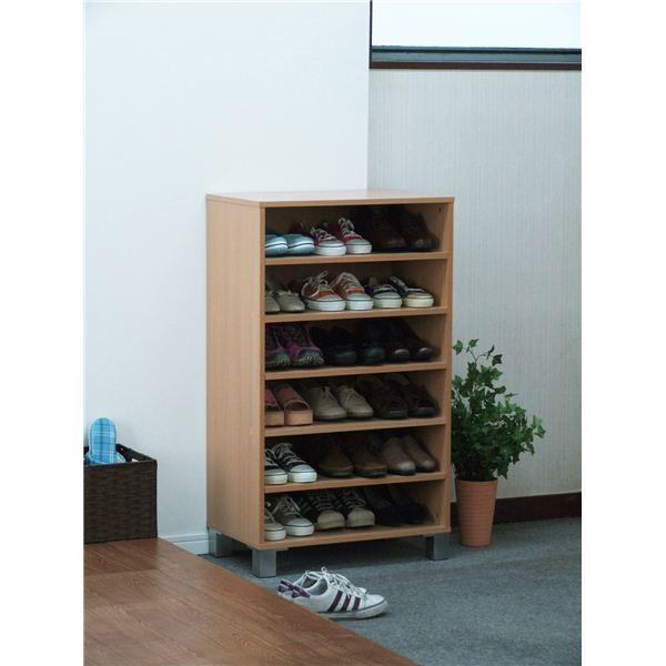 【送料無料】オープンシューズボックス(靴箱/下駄箱) 幅60cm ナチュラル 【組立】