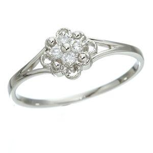 【送料無料】プラチナダイヤリング 指輪 デザインリング3型 フローラ 19号