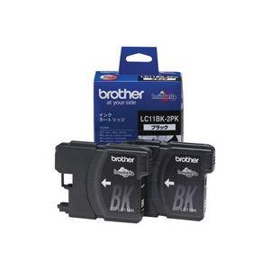 【送料無料】(業務用6セット) brother ブラザー工業 インクカートリッジ 純正 【LC11BK-2PK】 2本入り ブラック(黒) ×6セット
