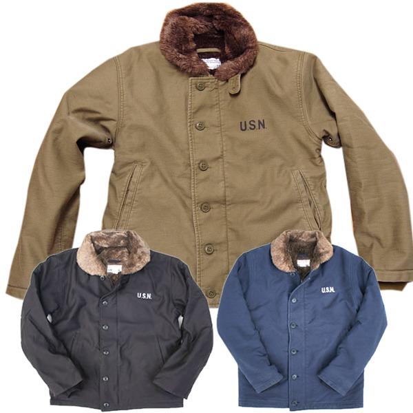 【送料無料】アメリカ軍 N-1 デッキジャケット 【 36/Mサイズ 】 JJ105YN ネイビー 【 レプリカ 】