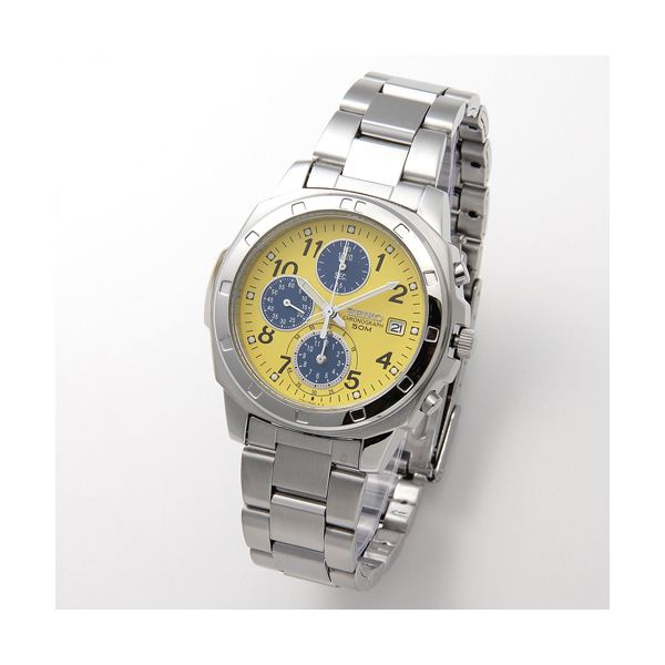 【送料無料】SEIKO(セイコー) 腕時計 クロノグラフ SND409 イエロー
