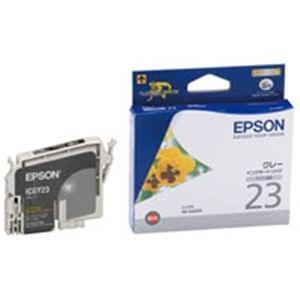 【送料無料】(業務用40セット) EPSON エプソン インクカートリッジ 純正 【ICGY23】 グレー(灰)