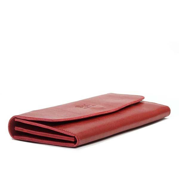b9ed355f9d67 送料無料】IL RED RUBY 245 C0973 フラップ長財布 BISONTE(イルビゾンテ ...