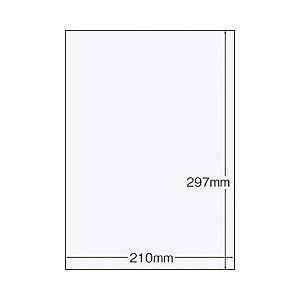 (業務用セット) ラベルシール(プリンタ兼用)(A4) ノーカット 1パック(22枚) 【×10セット】