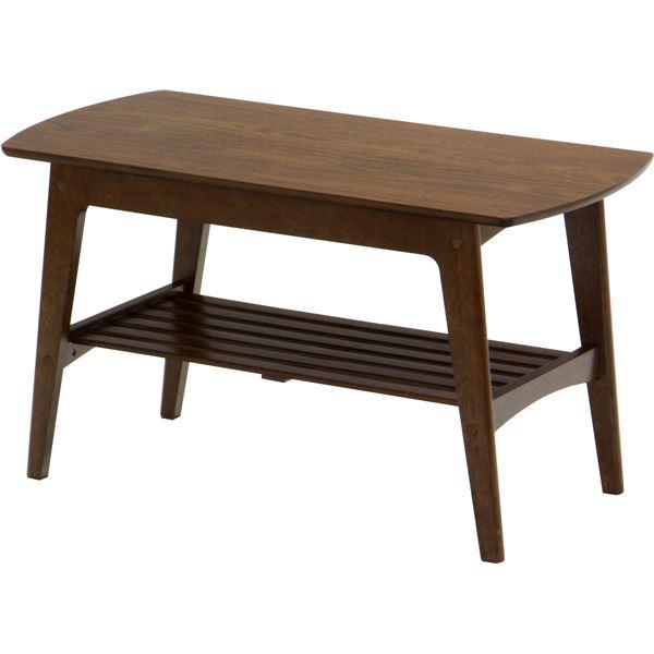 【送料無料】センターテーブル/リビングテーブル ロージー 【幅90cm】 木製 収納棚付き 木目調