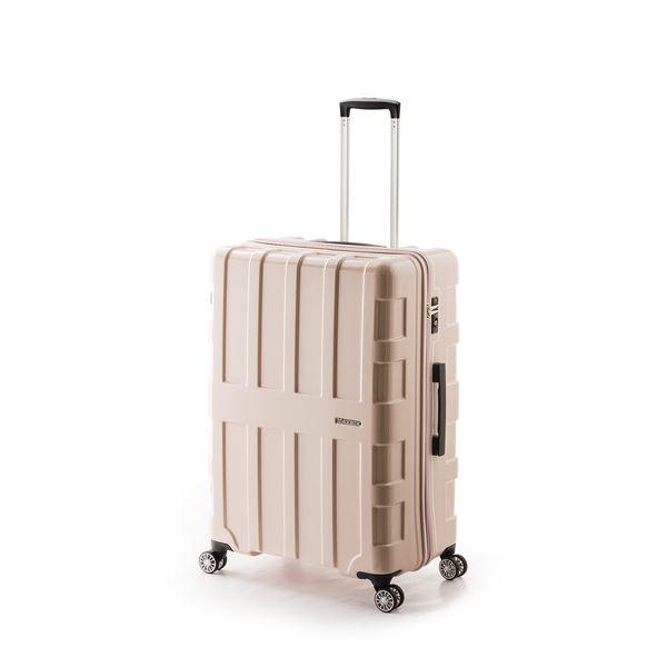 【送料無料】大容量スーツケース/キャリーバッグ 【ライトピンク】 96L 軽量 アジア・ラゲージ 『MAX BOX』 手荷物預け無料最大サイズ