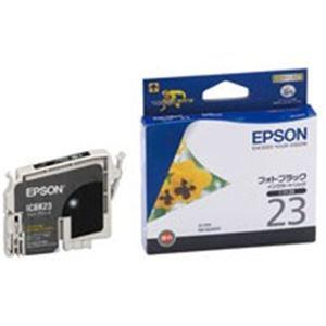 【送料無料】(業務用40セット) EPSON エプソン インクカートリッジ 純正 【ICBK23】 フォトブラック(黒)