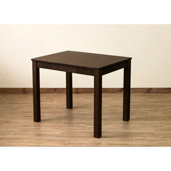 【送料無料】引き出し付きフリーテーブル/ダイニングテーブル 【長方形】 ブラウン 幅85cm×奥行65cm アジャスター付き【代引不可】