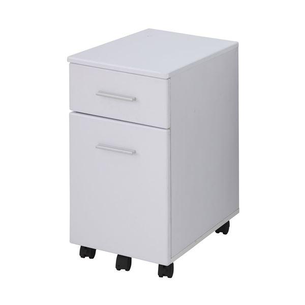 【送料無料】あずま工芸 サイドチェスト 幅33.5×高さ60cm ホワイト EDS-1601
