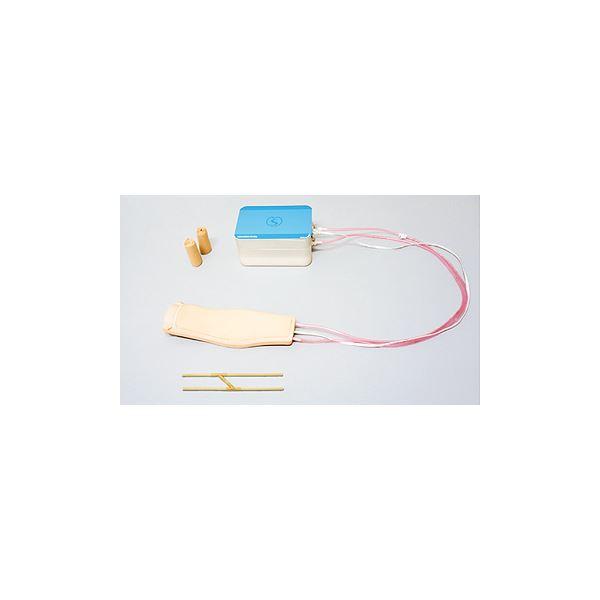 【送料無料】装着型静脈注射判定トレーナー 「IVジャッジマン」 装着用ベルト/交換用血管/収納ケース付き M-183-0【代引不可】