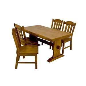【送料無料】浮造りダイニングチェア(椅子単品) 【1脚入り】 木製(松) 木目調 【代引不可】