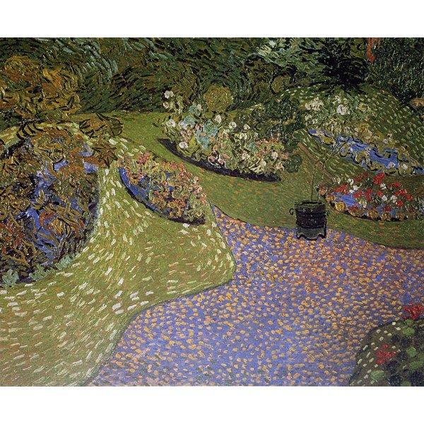 【送料無料】世界の名画シリーズ、プリハード複製画 ヴィンセント・ヴァン・ゴッホ作 「オーヴェールの庭」【代引不可】
