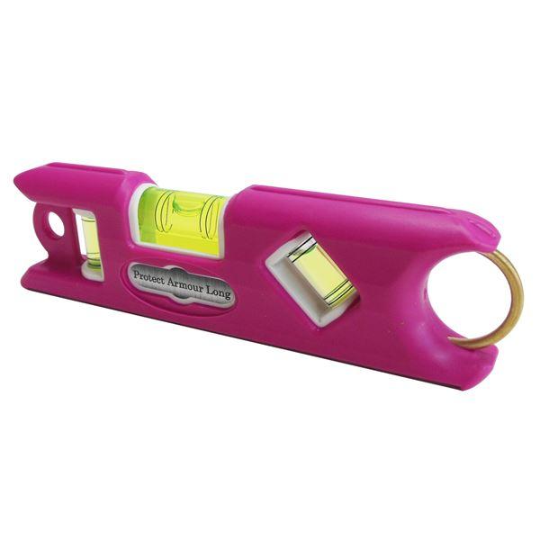 【送料無料】(業務用10個セット) KOD プロテクトアーマー ロング水平器/レベル 【ピンク】 一体型成型 PALS-HI