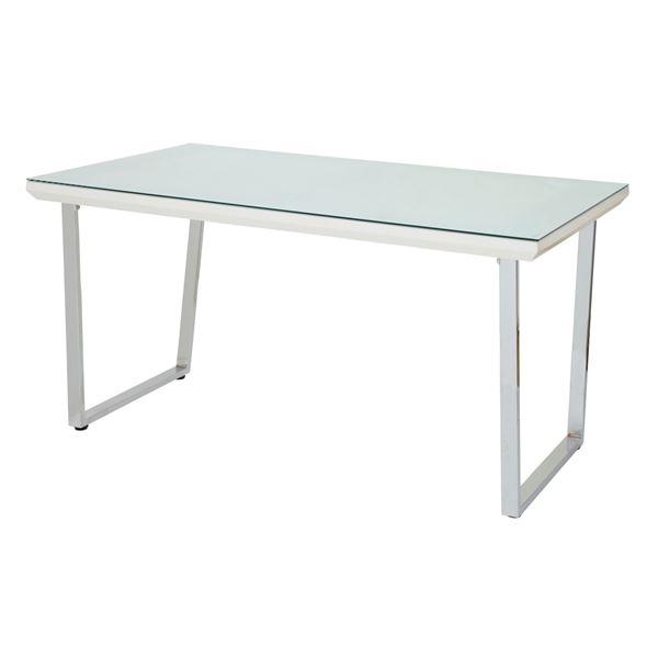 【送料無料】あずま工芸 ダイニングテーブル 幅135cmガラス天板 GDT-7691