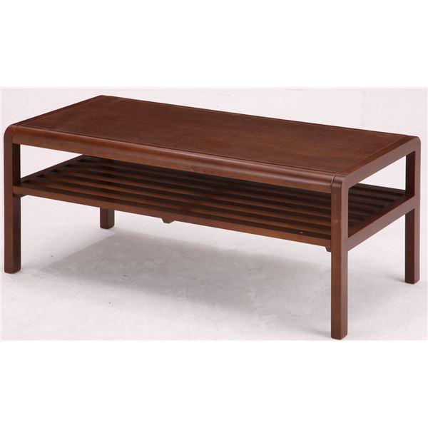 【送料無料】センターテーブル(ローテーブル/リビングテーブル) COCOA 木製 幅90cm 収納棚付き ブラウン