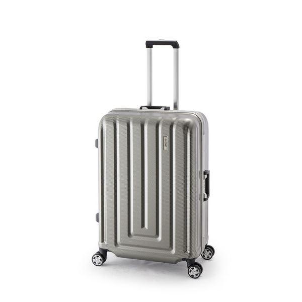 【送料無料】スーツケース/キャリーバッグ 【カーボンシルバー】 82L ダイヤル式 TSAロック アジア・ラゲージ 『MAX SMART』