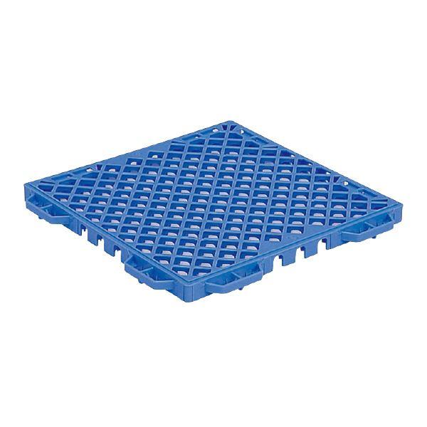(業務用16個セット)三甲(サンコー) サンスノコ(すのこ板/敷き板) 362mm×362mm 樹脂製 #440 ブルー(青) 【代引不可】