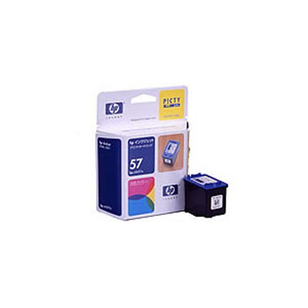 【送料無料】(業務用3セット) 【純正品】 HP インクカートリッジ/トナーカートリッジ 【C6657A HP57 3色カラー】