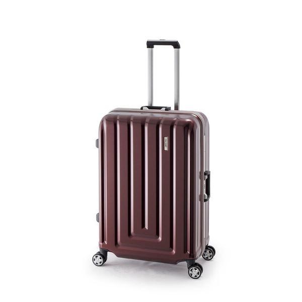 【送料無料】スーツケース/キャリーバッグ 【カーボンレッド】 82L ダイヤル式 TSAロック アジア・ラゲージ 『MAX SMART』