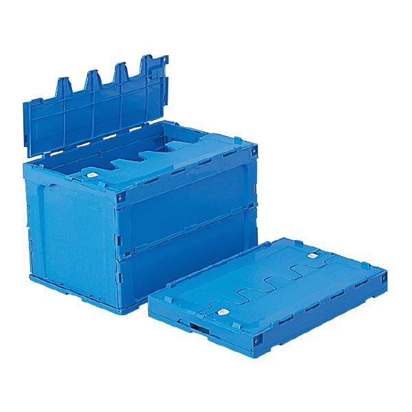 【送料無料】(業務用3個セット)三甲(サンコー) 折りたたみコンテナボックス/サンクレットオリコン 【フタ付き】 95B ブルー(青) 【代引不可】
