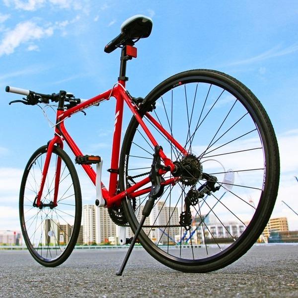 【送料無料】クロスバイク 700c(約28インチ)/レッド(赤) シマノ21段変速 アルミフレーム 軽量 重さ11.2kg 【VENUS】 ビーナス CAC-021【代引不可】