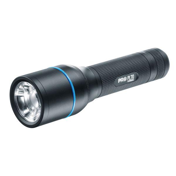 【送料無料】LEDフラッシュライト(懐中電灯) アルミニウムボディ 防水/ビーム調整システム ワルサープロPL70