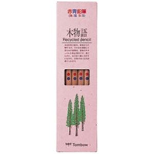 【送料無料】(業務用50セット) トンボ鉛筆 エコ鉛筆 木物語 CV-REAVP 朱藍