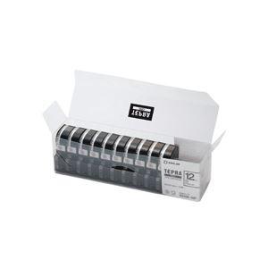 【送料無料】【訳あり・在庫処分】キングジム テプラ PRO テープカートリッジ 12mm 白/黒文字 業務用パック SS12K-10P 1パック(10個)