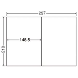 【送料無料】(業務用3セット) 東洋印刷 ナナ コピー用ラベル C2i A4/2面 500枚
