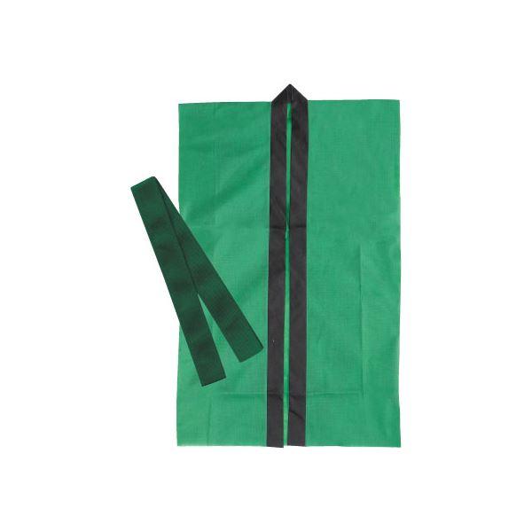 【送料無料】(まとめ)アーテック 不織布製はっぴ/法被 【Jサイズ】 ロング丈 袖なし ハチマキ付き グリーン(緑) 【×30セット】