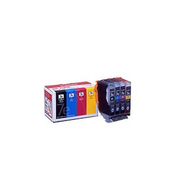 【送料無料】(業務用2セット)【純正品】 Canon キャノン インクカートリッジ/トナーカートリッジ 【BCI-7e/4MP 4色パック】 ×2セット