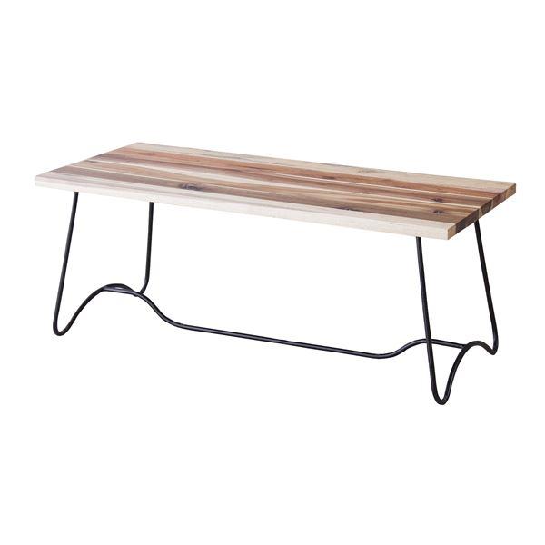 【送料無料】コーヒーテーブル(天然木/アイアン) LEIGHTON(レイトン) ナチュラルミックス NW-111NA