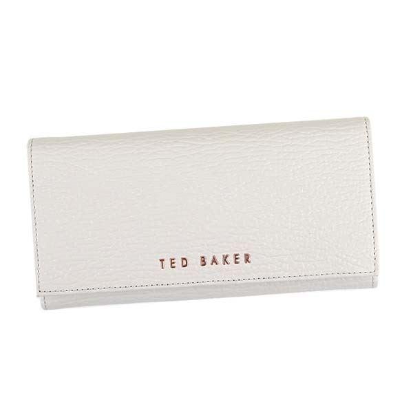 【送料無料】TED BAKER(テッドベーカー) フラップ長財布 133618 9 LIGHT GREY