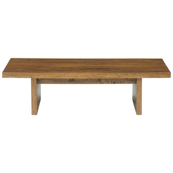 【送料無料】マンゴーウッドテーブル(ローテーブル/リビングテーブル) 長方形/幅120cm 木製 木目調 texens(テクセンス)【代引不可】