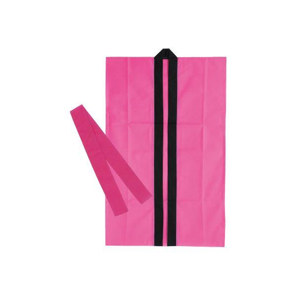 【送料無料】(まとめ)アーテック 不織布製はっぴ/法被 【Sサイズ】 ロング丈 袖なし ハチマキ付き ピンク(桃) 【×30セット】