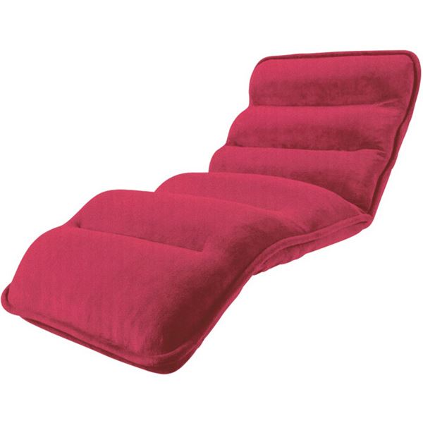 【送料無料】収納簡単低反発もこもこ座椅子 ワイドタイプ ピンク