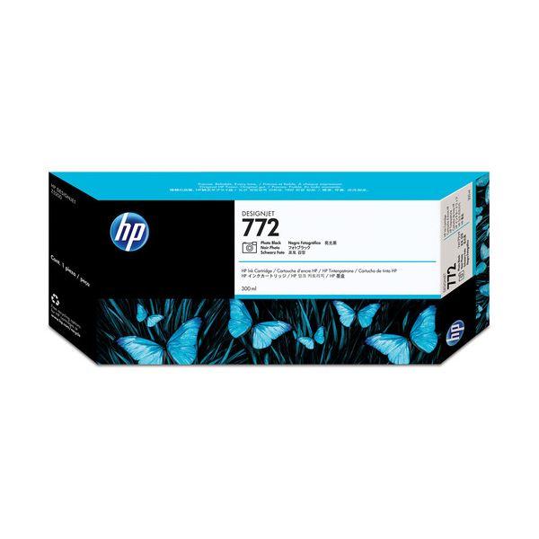(まとめ) HP772 インクカートリッジ フォトブラック 300ml 顔料系 CN633A 1個 【×3セット】