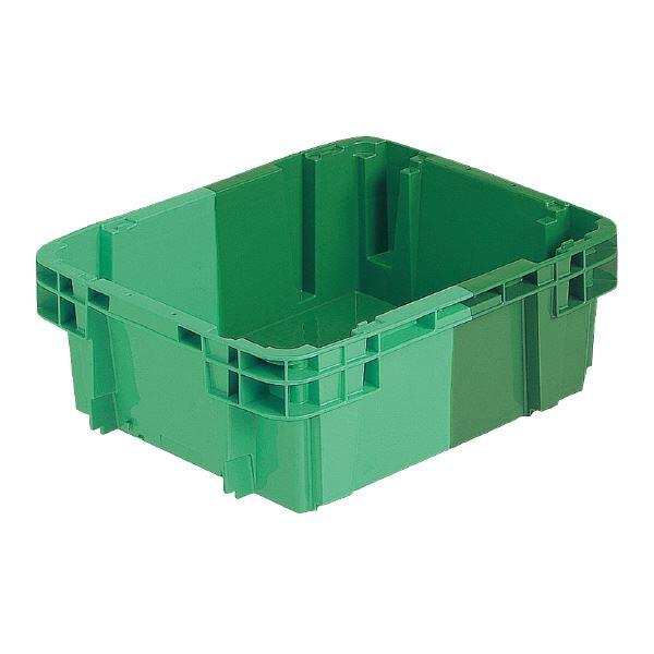 【送料無料】(業務用10個セット)三甲(サンコー) SNコンテナ/2色コンテナボックス 【Bタイプ】 #20D グリーン×グリーン 【代引不可】