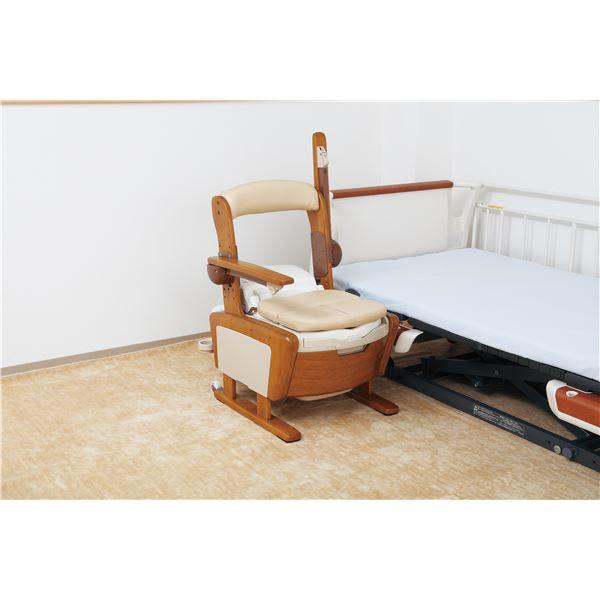 【送料無料】アロン化成 木製ポータブルトイレ 安寿家具調トイレAR-SA1(シャワピタ) (3)はねあげL 533-814