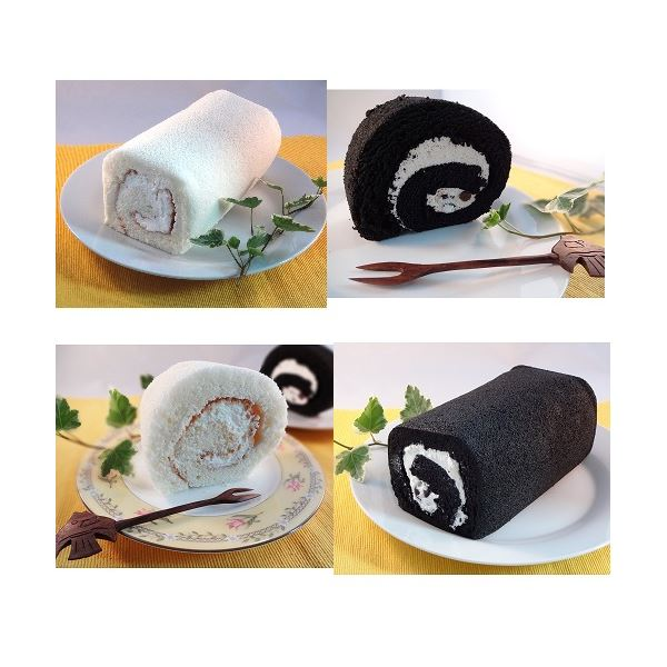 【送料無料】白黒ロールケーキセット 6本【代引不可】