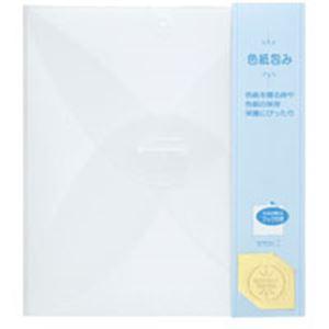 【送料無料】(業務用200セット) ミドリ カラー色紙包み 33037006 透明