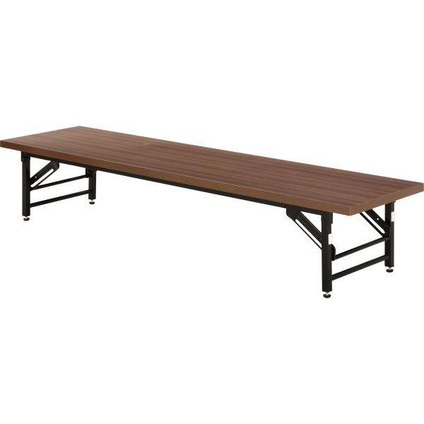 【送料無料】会議テーブル/折りたたみテーブル 【ロータイプ】 幅180cm×奥行45cm×高さ33cm 4533D【代引不可】