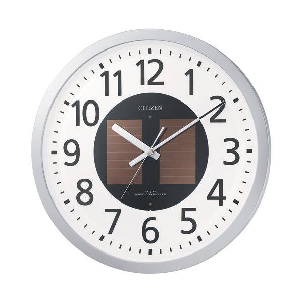 【送料無料】リズム時計 シチズン電波掛時計 4MY815-019